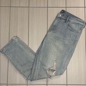 GAP Denim girlfriend jeans medium destroyed